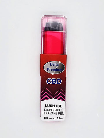 Delta Premium 150mg CBD Disposable Vape Pen - Lush Ice