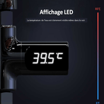 ThermoHappy™ - Thermomètre de douche chromé avec affichage LED - Happy Shopy FR