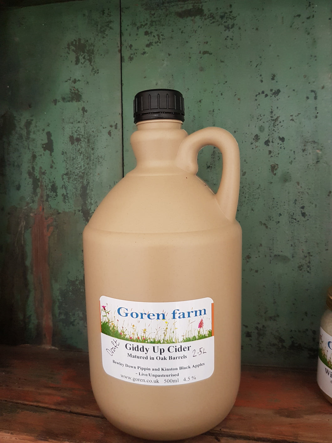 Flaggon of cider. 2.5l - Goren Farm Seeds