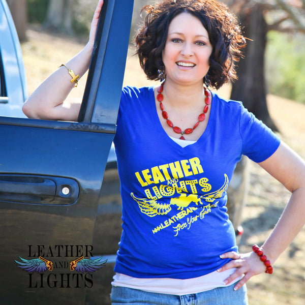 Leather & Lights - Fabulous Fearless Free Spirit Tee - BLUE