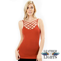 Triple Cross Cami Tank - Copper