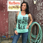I like Big Boats & I cannot Lie Tank Top - Mint