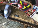 Conceal Carry - Aztec Blanket & Leather Bag