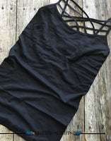 Triple Cross Cami - Black