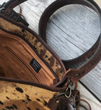 Branded Crossbody Leather Bag