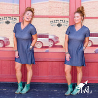 Denim Lone Star Dress with Pockets