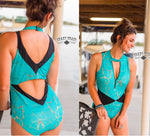 Fiji Island - Zip Full Piece Swimsuit - Crazy Train