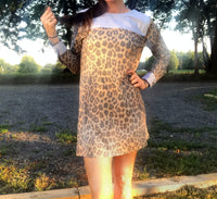 Leopard & Light Denim Dress