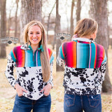 Serape Split Qtr Zip Pull Over
