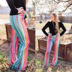 Staying Alive Sequin Serape Flares