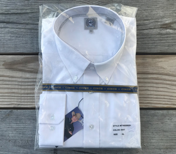 Men's White Cinch® Button Up