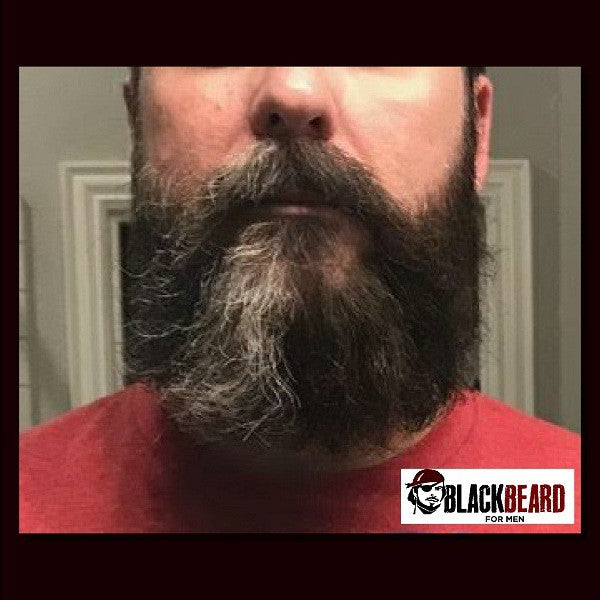 Blackbeard for Men before and after long beard