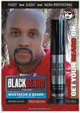 Instant Beard Coloring - No itch, No Rash, Beard Dye Alternative - Brown Black