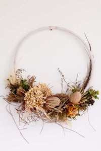 Large Dried Floral Wreath
