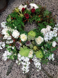 wreath tribute - Blanc Flowers, Tauranga Florist