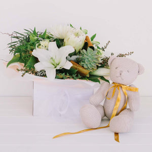 Baby Flowers & Cuddly Gift