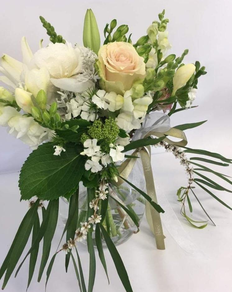 Eco friendly vase option - Blanc Flowers, Tauranga Florist