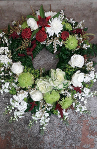 wreath spray - Blanc Flowers, Tauranga Florist