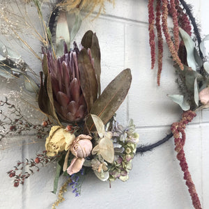 'Mabel' dried floral wreath