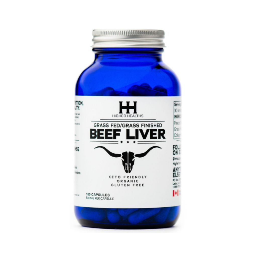 Beef Liver Capsules, 180 Caps, Higher Healths