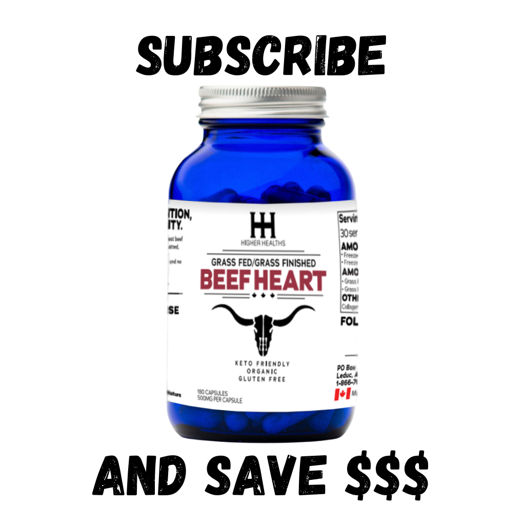 Monthly Subscription - Beef Heart, 180 Capsules, Higher Healths Canada