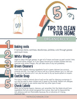 Tips to Clean Your Home Organically