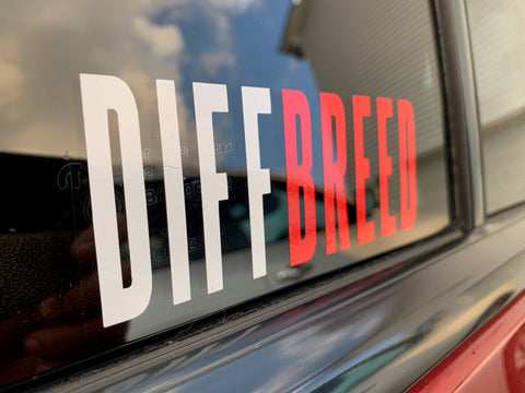 DIFFBREED Sticker White/Red