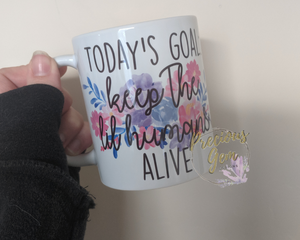 Keep the lil' humans alive mug
