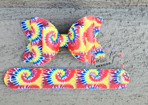 Double stacked bright tie dye