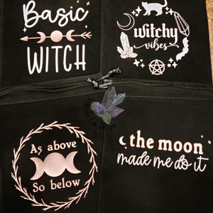 Tarot/crystal drawstring bag