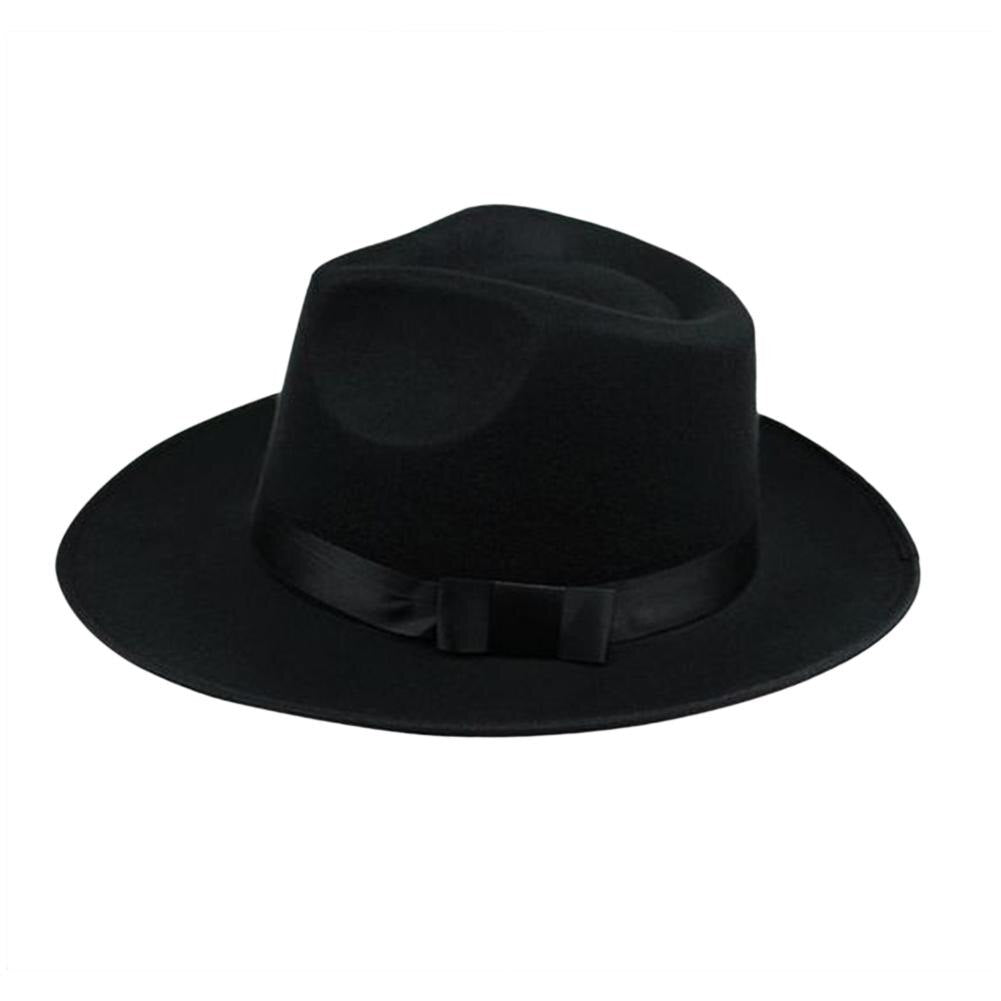 Solid Color Wool Felt Fedora Hat