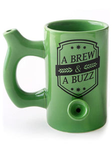 A Brew & A Buzz Ceramic Pipe Mug