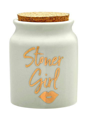 Stoner Girl Stash Jar