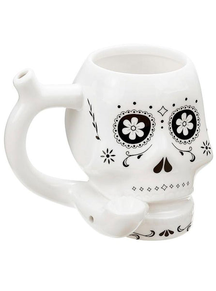 Skull Roast & Toast Ceramic Pipe Mug