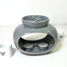 Load image into Gallery viewer, Rome Double Wax Warmer grey or white