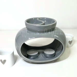Rome Double Wax Warmer grey or white