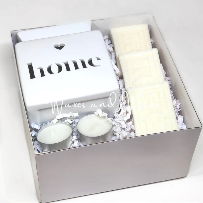 Home Sweet Home Wax Warmer Gift Set - Waxes and Wicks