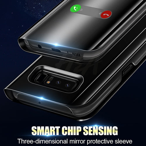 Luxury Smart Mirror Flip Phone Case For Samsung Galaxy - Popular Gadget Fun