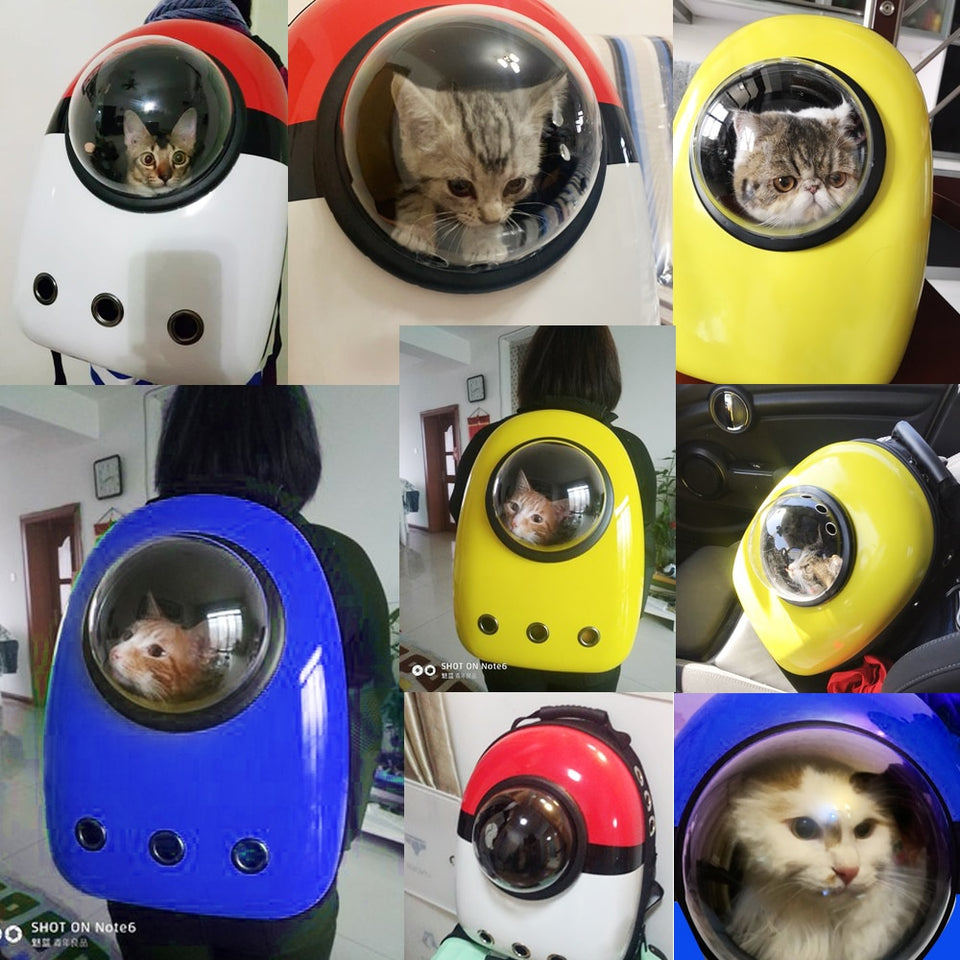 Transparent Cat Backpack Breathable Carrier Astronaut - Popular Gadget Fun