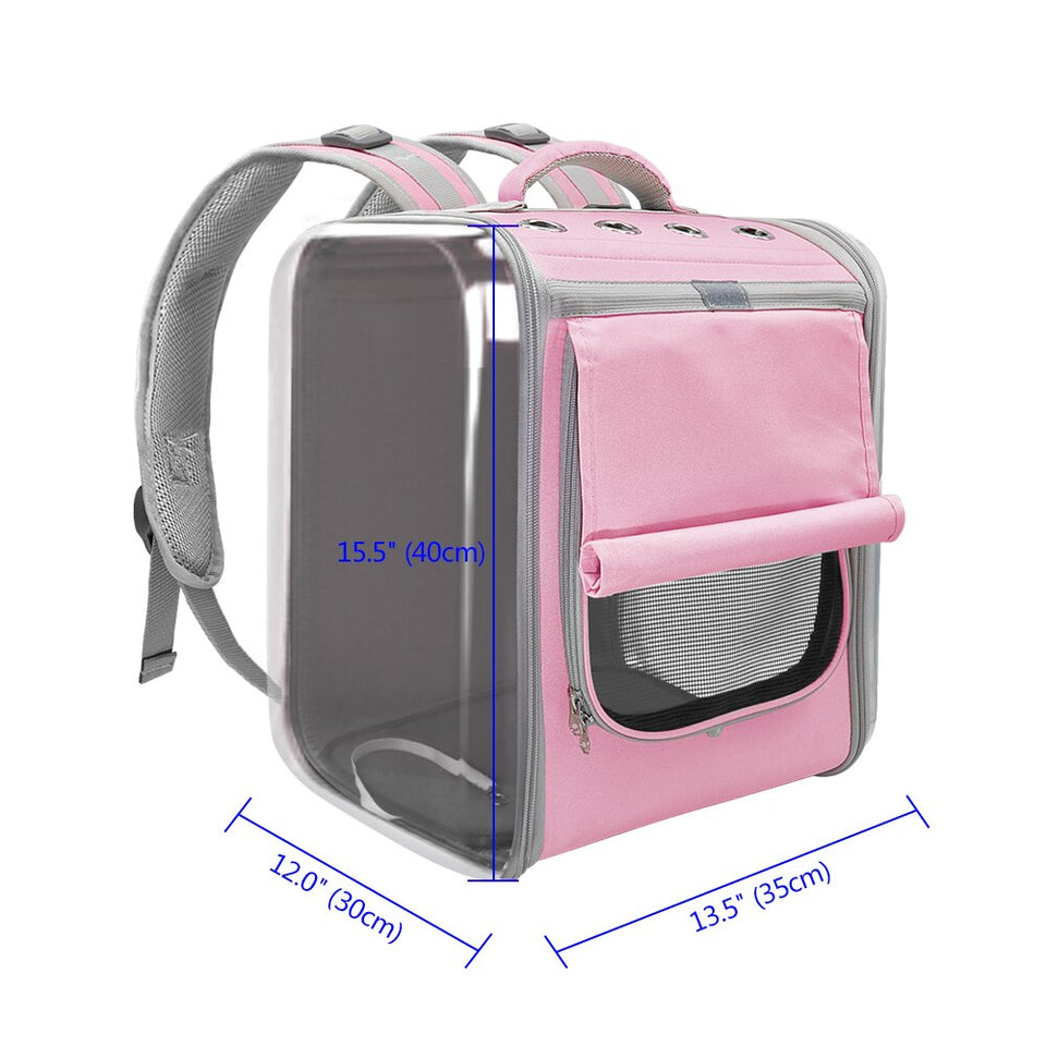 Breathable Pet Backpack Large Transparent Carrying Bag - Popular Gadget Fun