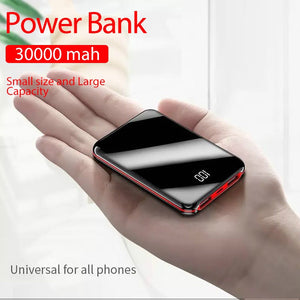 Portable Mini 30000 MAh Power Bank For All Mobile Phone - Popular Gadget Fun