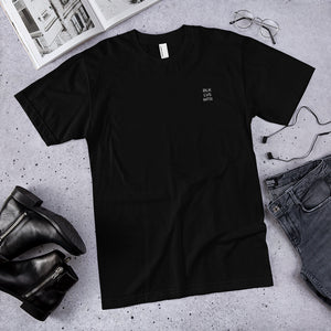 BLK LVS MTR embroidered t-shirt