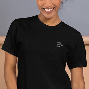 post therapy glow embroidered t-shirt