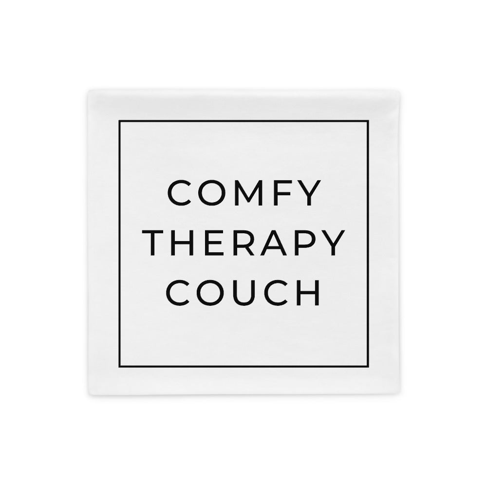 comfy therapy couch pillow case