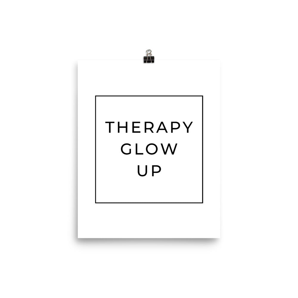 therapy glow up poster