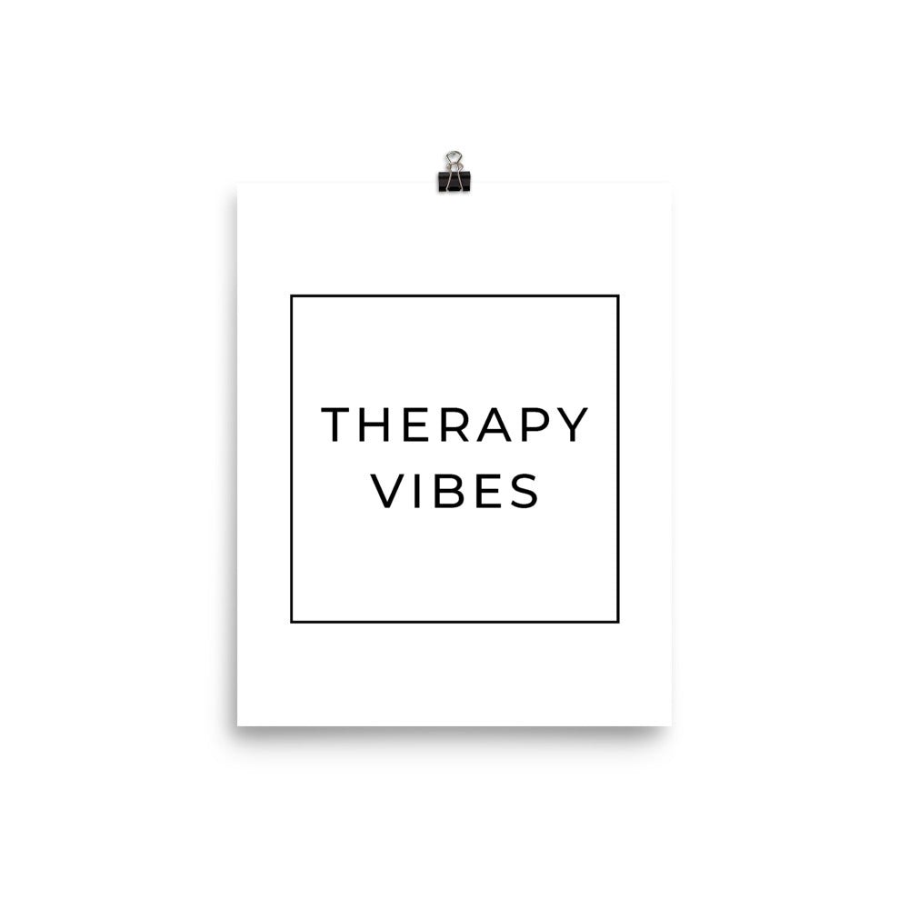 therapy vibes poster