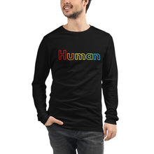 Load image into Gallery viewer, human unisex long sleeve t-shirt