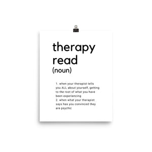 therapy read poster