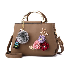 Load image into Gallery viewer, 2020 new hit color double lock clip flower pearl chain small square package hand bag leather with iron patchwork shoulder bag