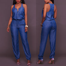 Load image into Gallery viewer, Casual Denim Overalls Women Off Shoulder Daily Jumpsuits Streetwear Sexy Summer Party Club High Street Playsuits Body Mujerw #38